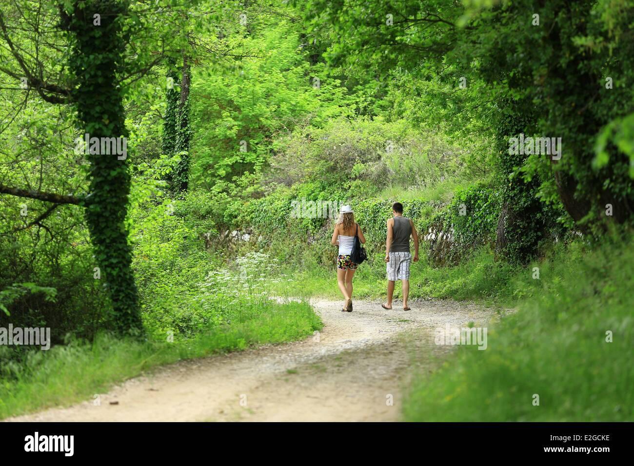 France Var Provence Verte Bras Triassic source - Stock Image