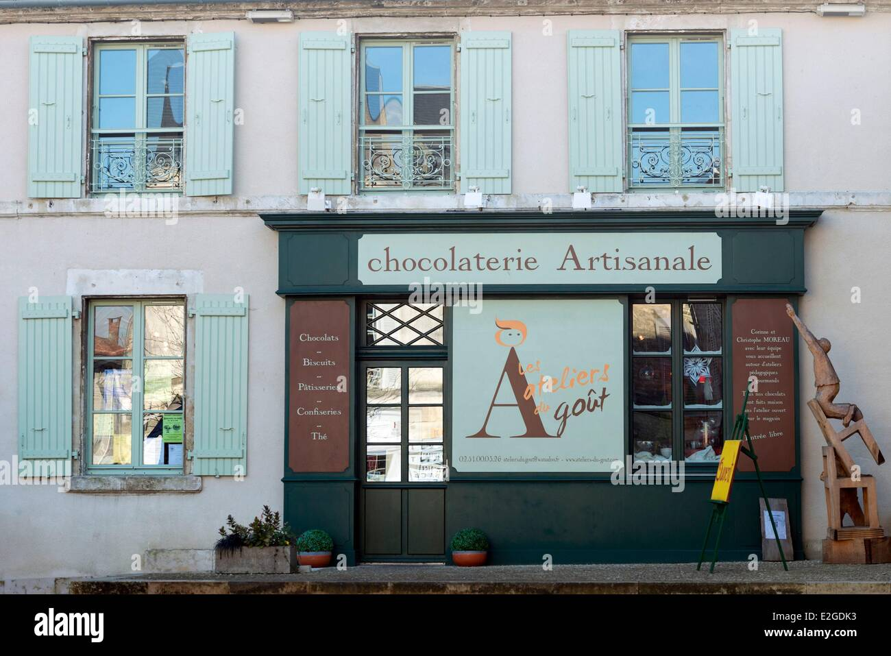 France Vendee Foussais Payre handmade chocolate - Stock Image
