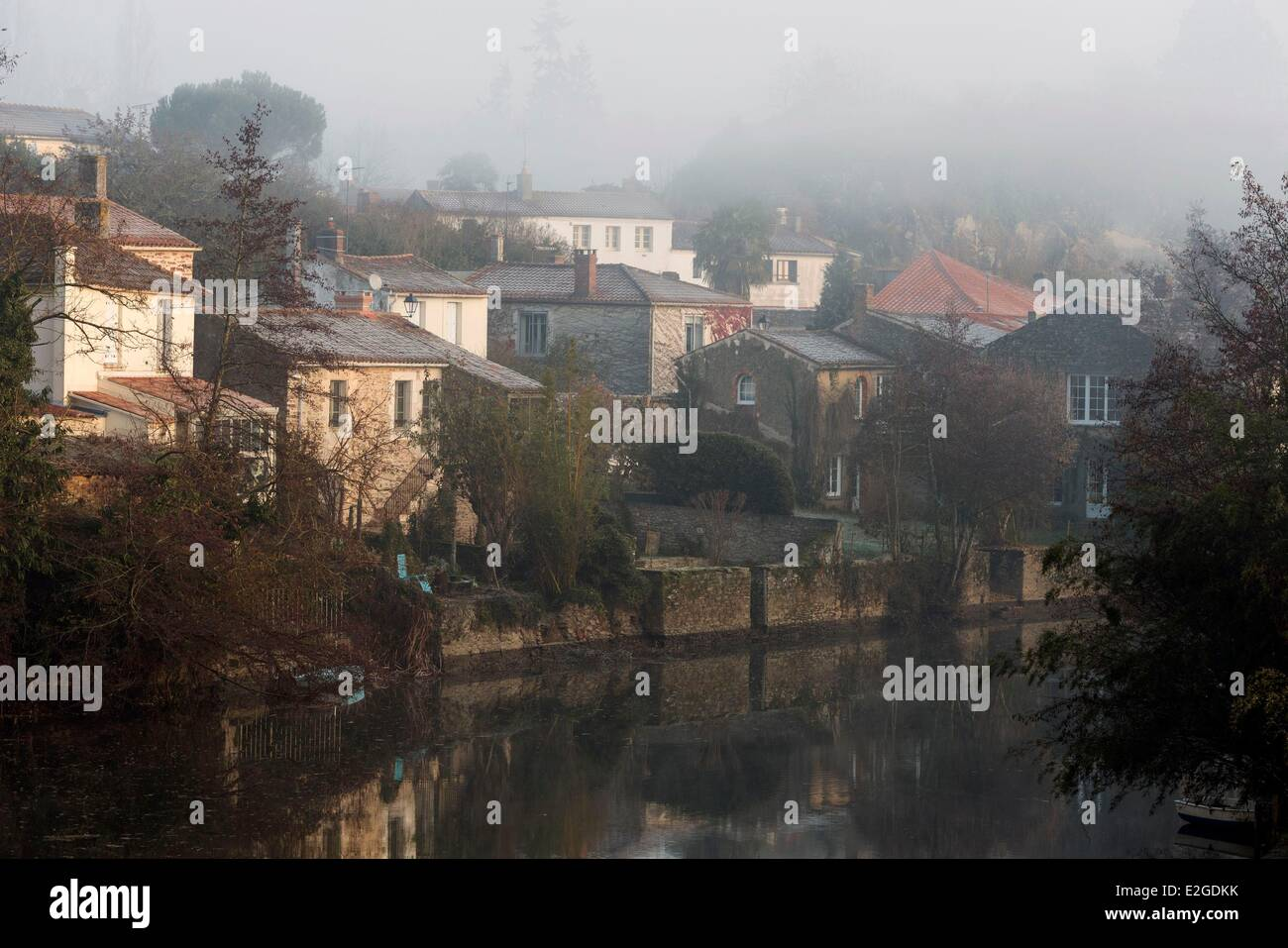France Vendee Mareuil sur Lay Dissais Lay river - Stock Image