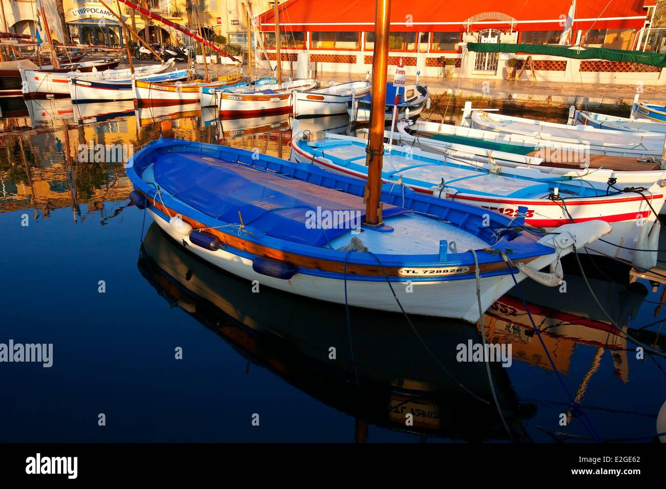 France Var Sanary sur Mer port and its shaRM-E - Stock Image