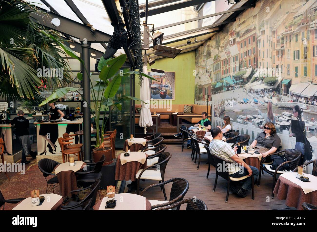 Croatia Zagreb Kolding Caffe Berislaviceva Street Stock Photo Alamy