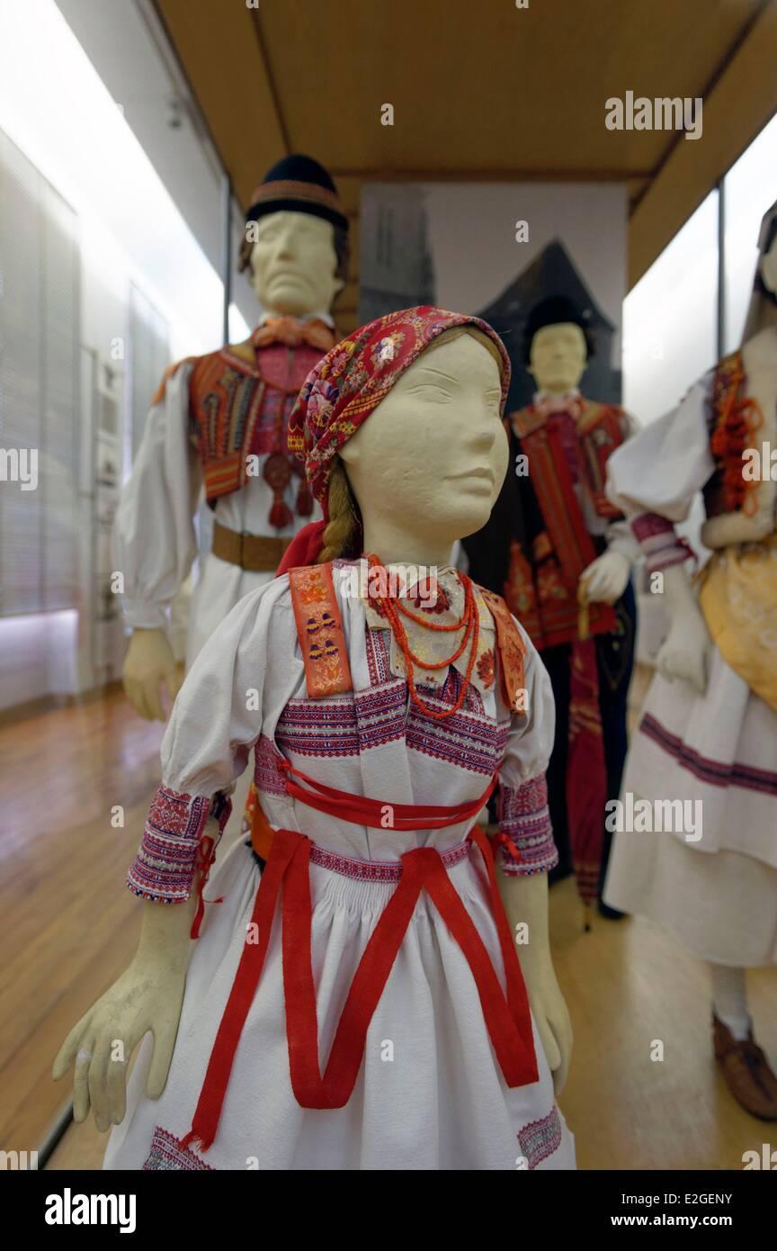 Croatia Zagreb museum of Ethnography - Stock Image