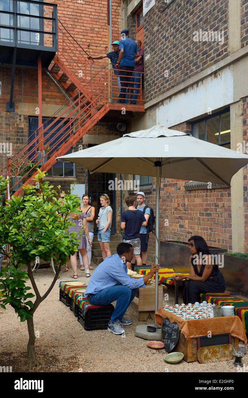 South Africa Gauteng province Johannesburg Maboneng district Arts on Main multi-discipline arts centre in a renovated - Stock Image