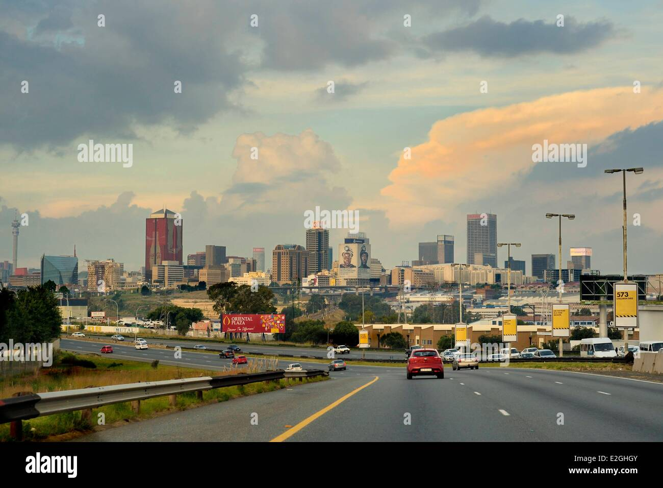 South Africa Gauteng province Johannesburg CBD (Central Business District) skyscrapers - Stock Image