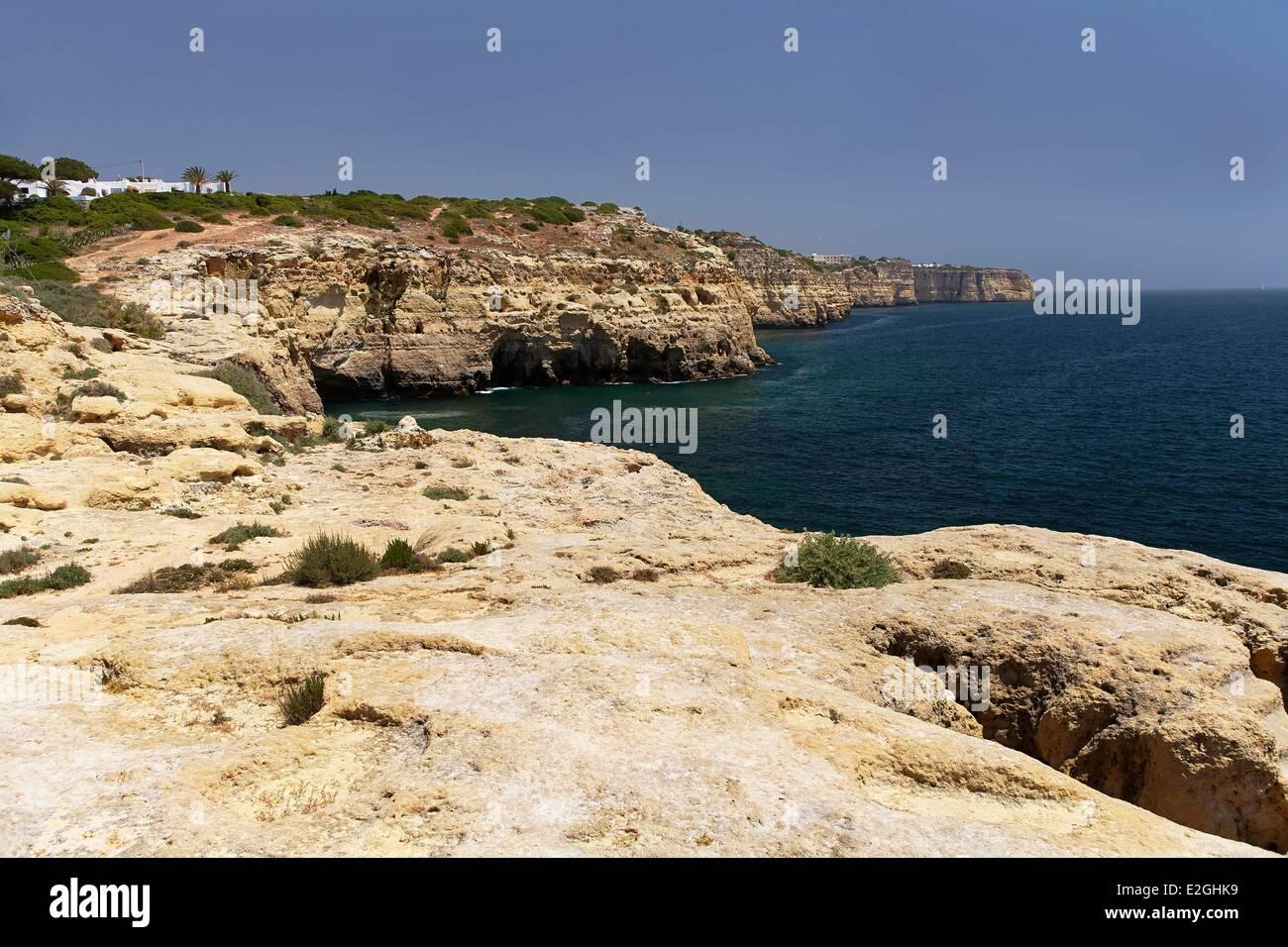 Portugal Algarve Carvoeiro cliffs Stock Photo
