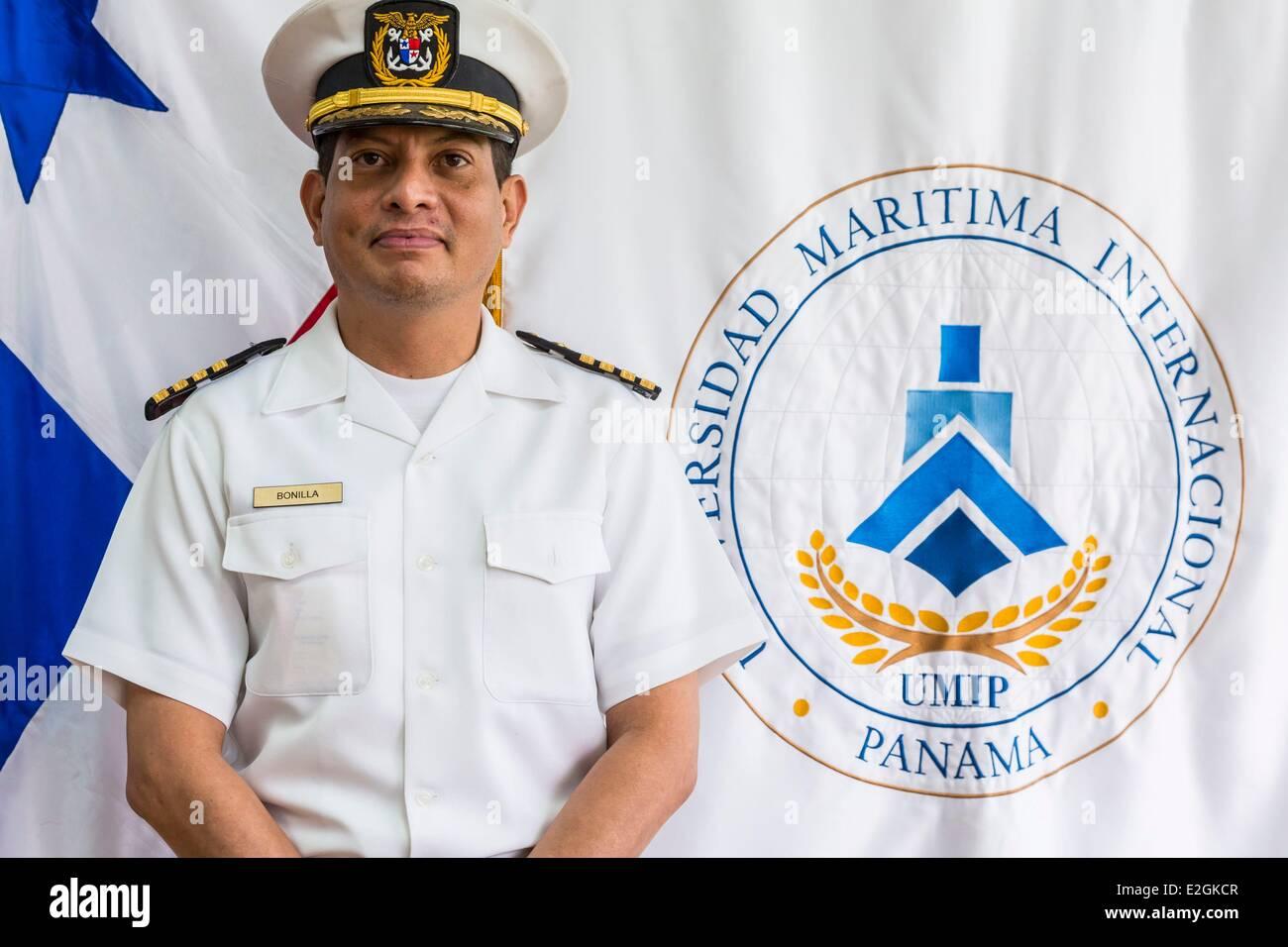 Panama Panama City Albrook Universidad Maritima Internacional de Panama (UMIP) forming Officers' marime captain - Stock Image