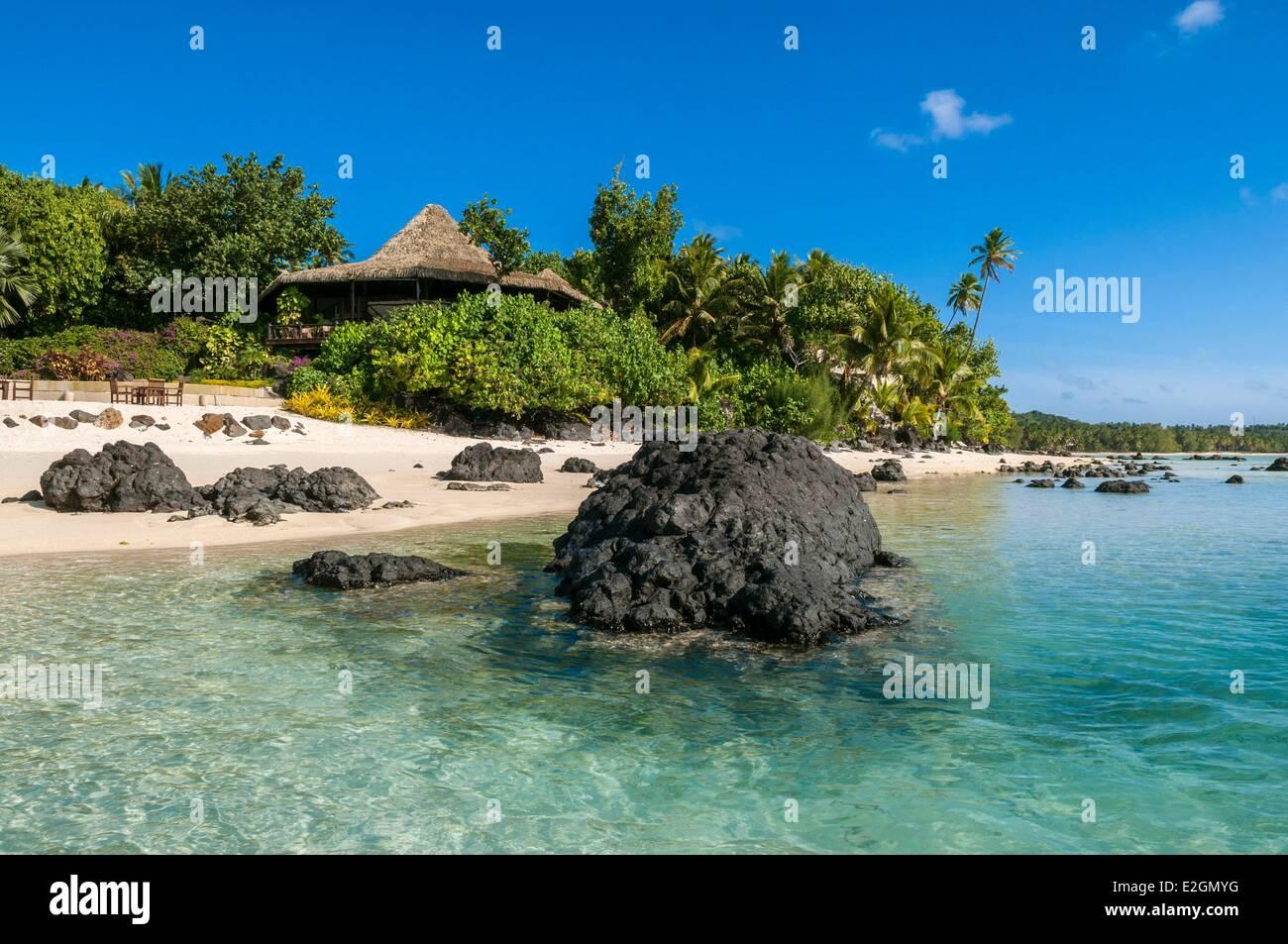 Cook Islands Aitutaki Island Pacific Resort labelled Smal Luxury Hotel of World - Stock Image