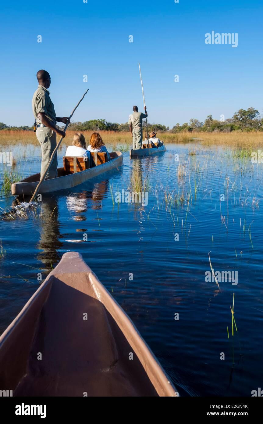 Botswana North West District Okavango Delta Abu Lodge safari Stock Photo