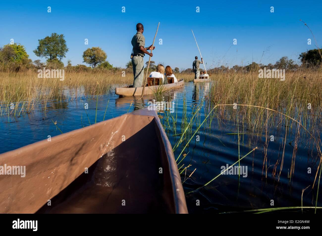 Botswana North West District Okavango Delta Abu Lodge safari - Stock Image