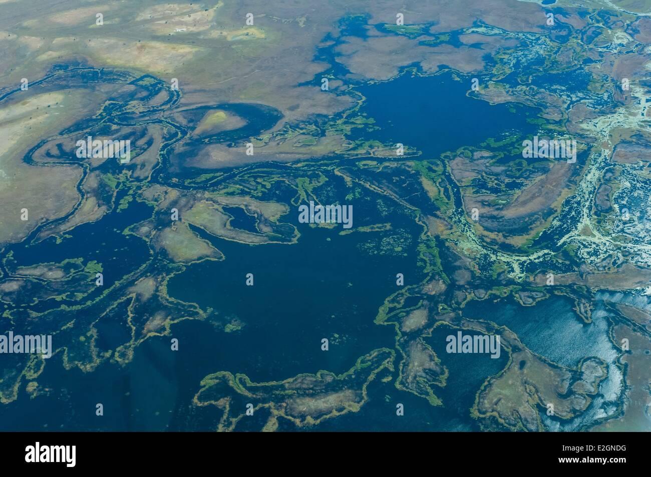 Botswana North West District Linyanti swamps and Zamezi river flight between Savuti and Kasane - Stock Image