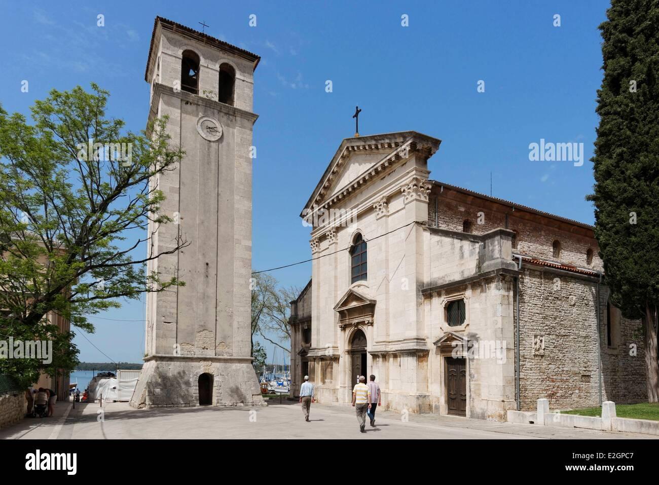 Croatia Istria Adriatic Coast Pula cathedral Stock Photo