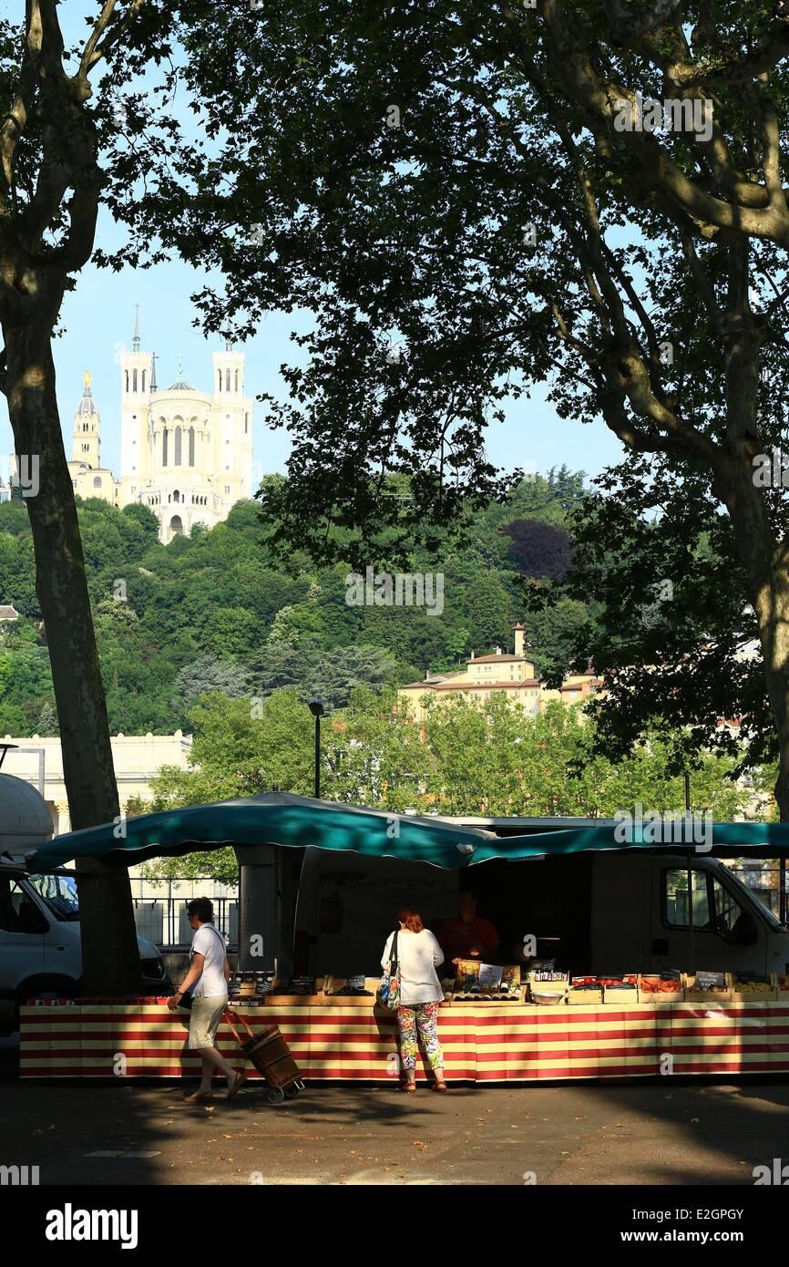 France Rhone Lyon historical site listed as World Heritage by UNESCO Cordeliers district Quai Saint Antoine Saint - Stock Image