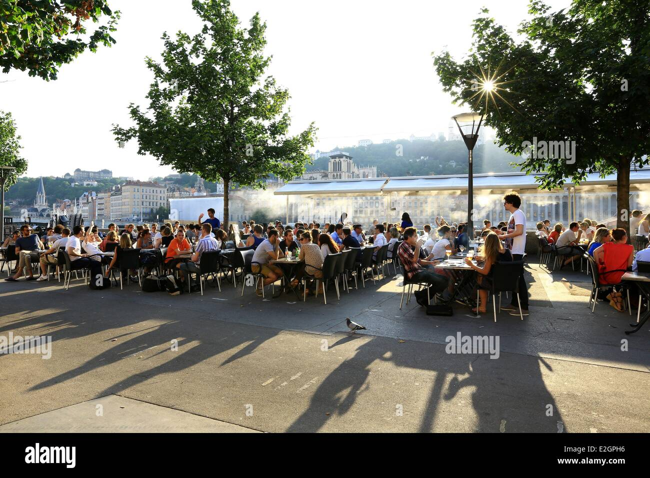 France Rhone Lyon historical site listed as World Heritage by UNESCO Cordeliers district Celestine quay Stock Photo