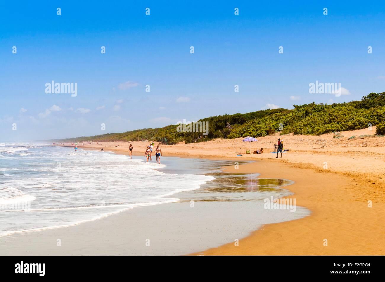 Italy Livorno province San Vincenzo Mediterranean sea San Vincenzo beach - Stock Image