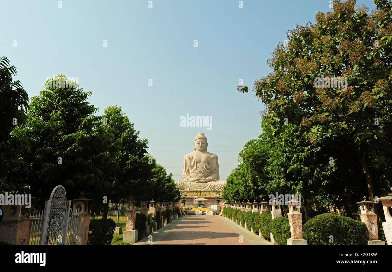 Birth Place Of Buddhism Bihar India: Buddha Statue Mahabodhi Temple Bodhgaya Stock Photos