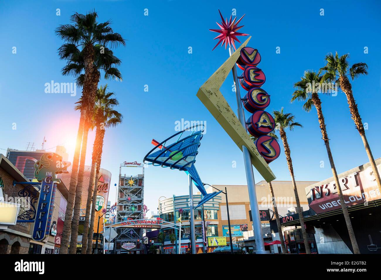 Las Vegas Fremont Street Stock Photos & Las Vegas Fremont Street ...