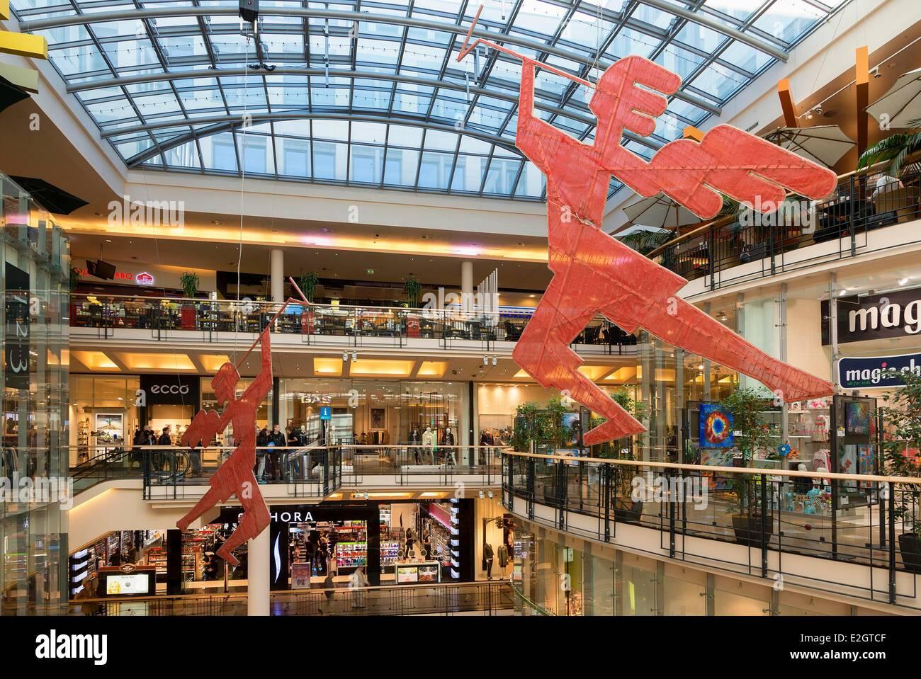 Czech Republic Prague historical centre listed as World Heritage by UNESCO Palladium Shopping Centre Stock Photo