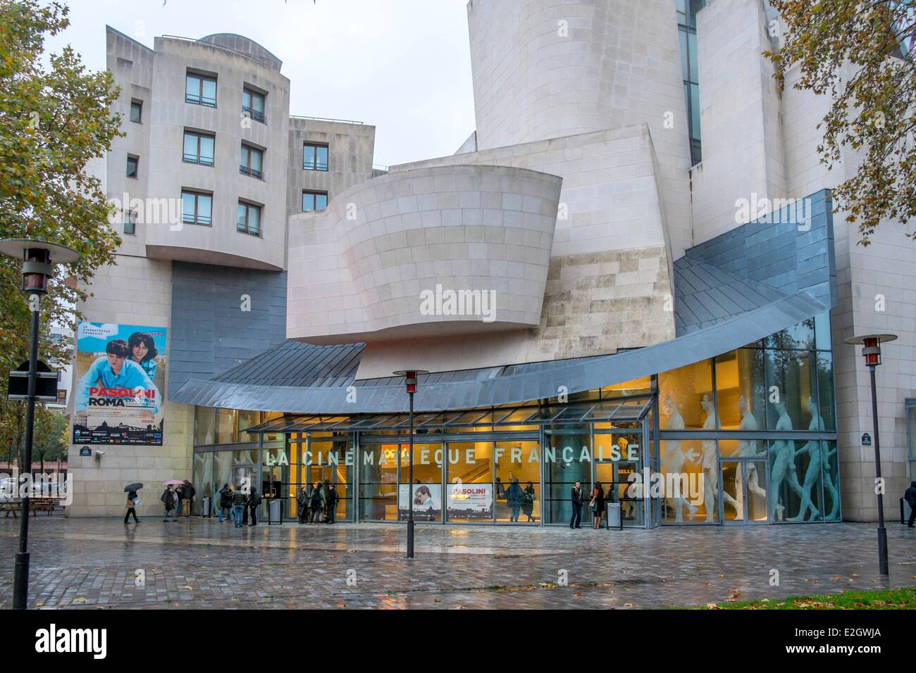 France Paris French Cinematheque (former American Center) by architect Frank O. Gehry in Parc de Bercy - Stock Image