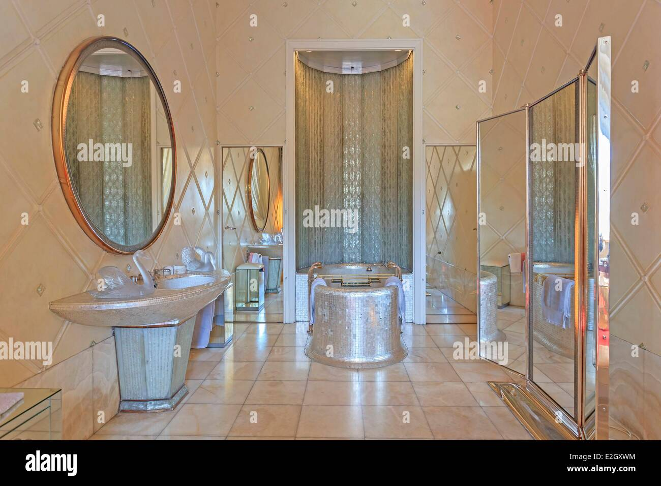 France Paris Quai d'Orsay hotel of Foreign Ministry Queen's bathroom Stock Photo