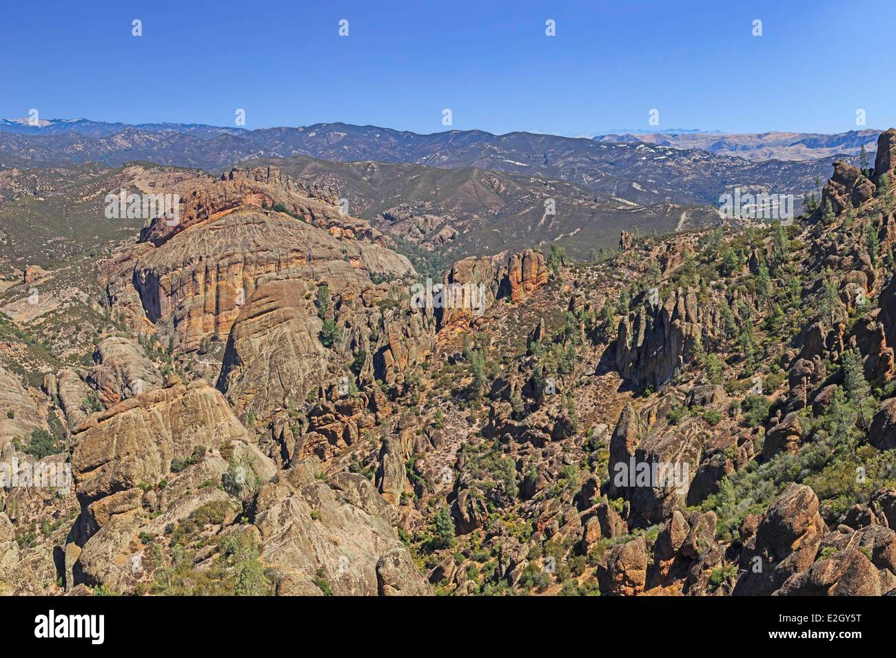 United states california california pacific coast ranges pinnacles united states california california pacific coast ranges pinnacles national park near san andreas fault west side eroded volcanic rock formations in high publicscrutiny Image collections