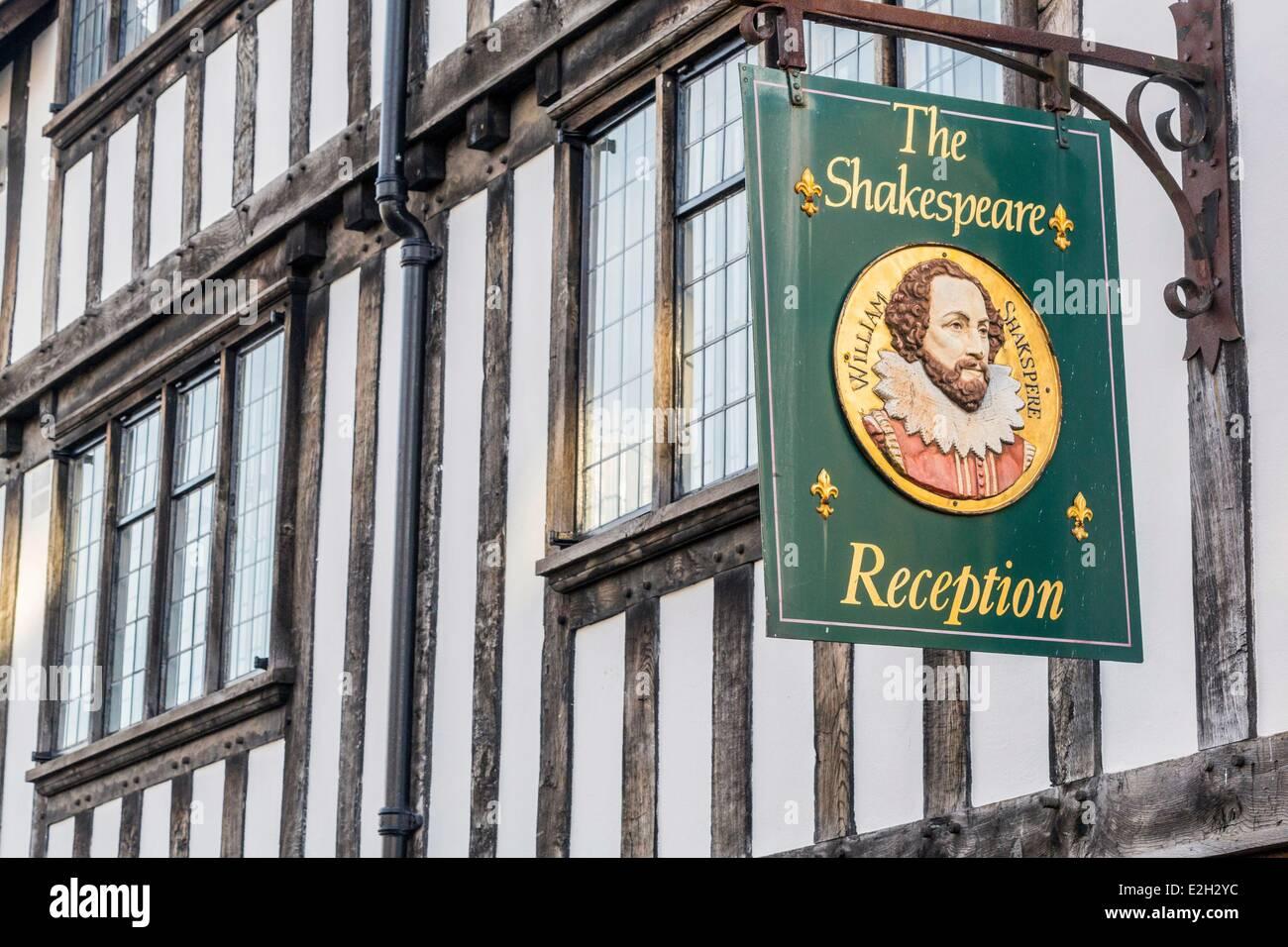 United Kingdom Warwickshire Stratford-upon-Avon Chapel Street facade Shakespeare Hotel - Stock Image