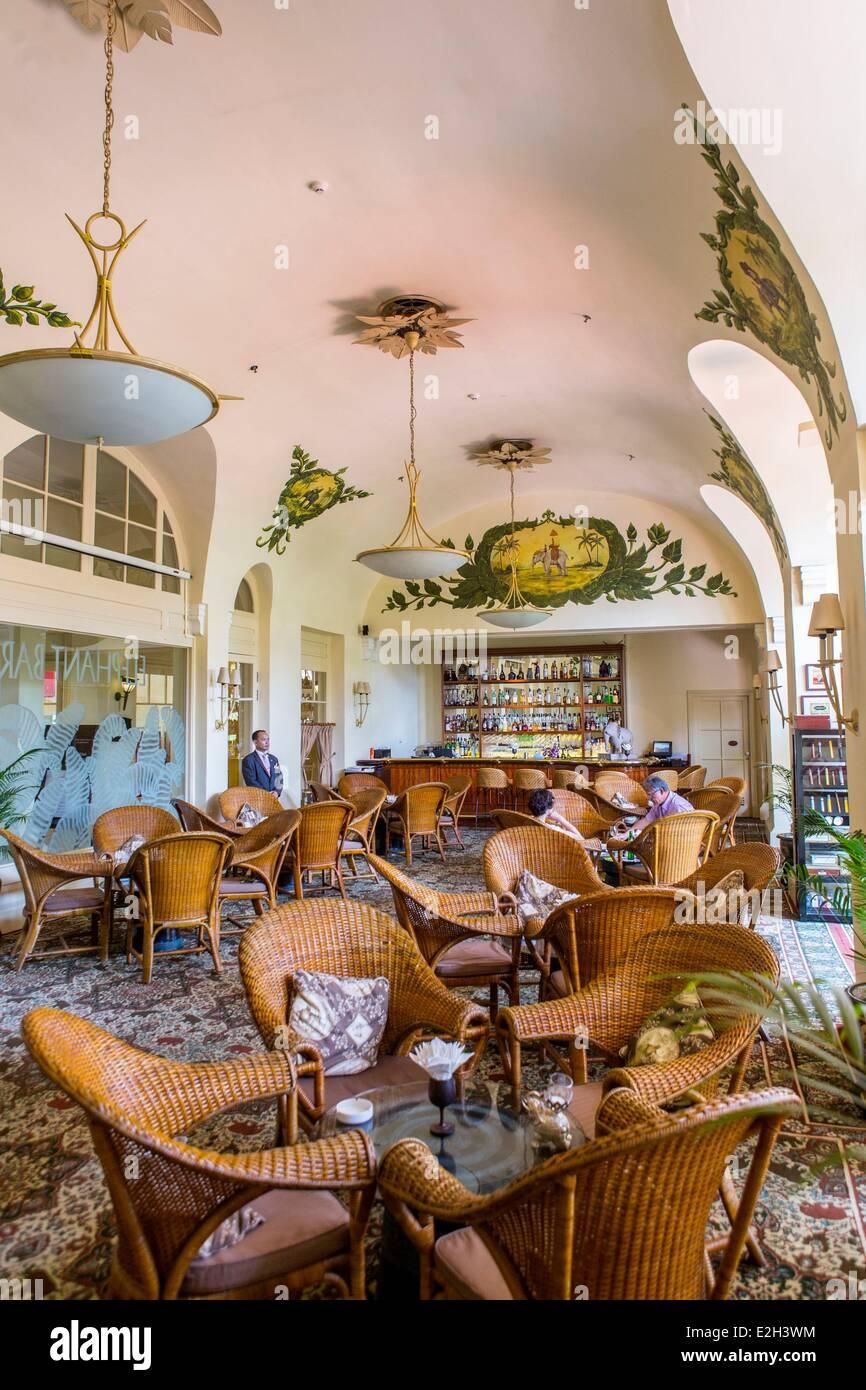 Cambodia Phnom Penh Raffles Hotel Le Royal luxurious hotel in colonial era - Stock Image