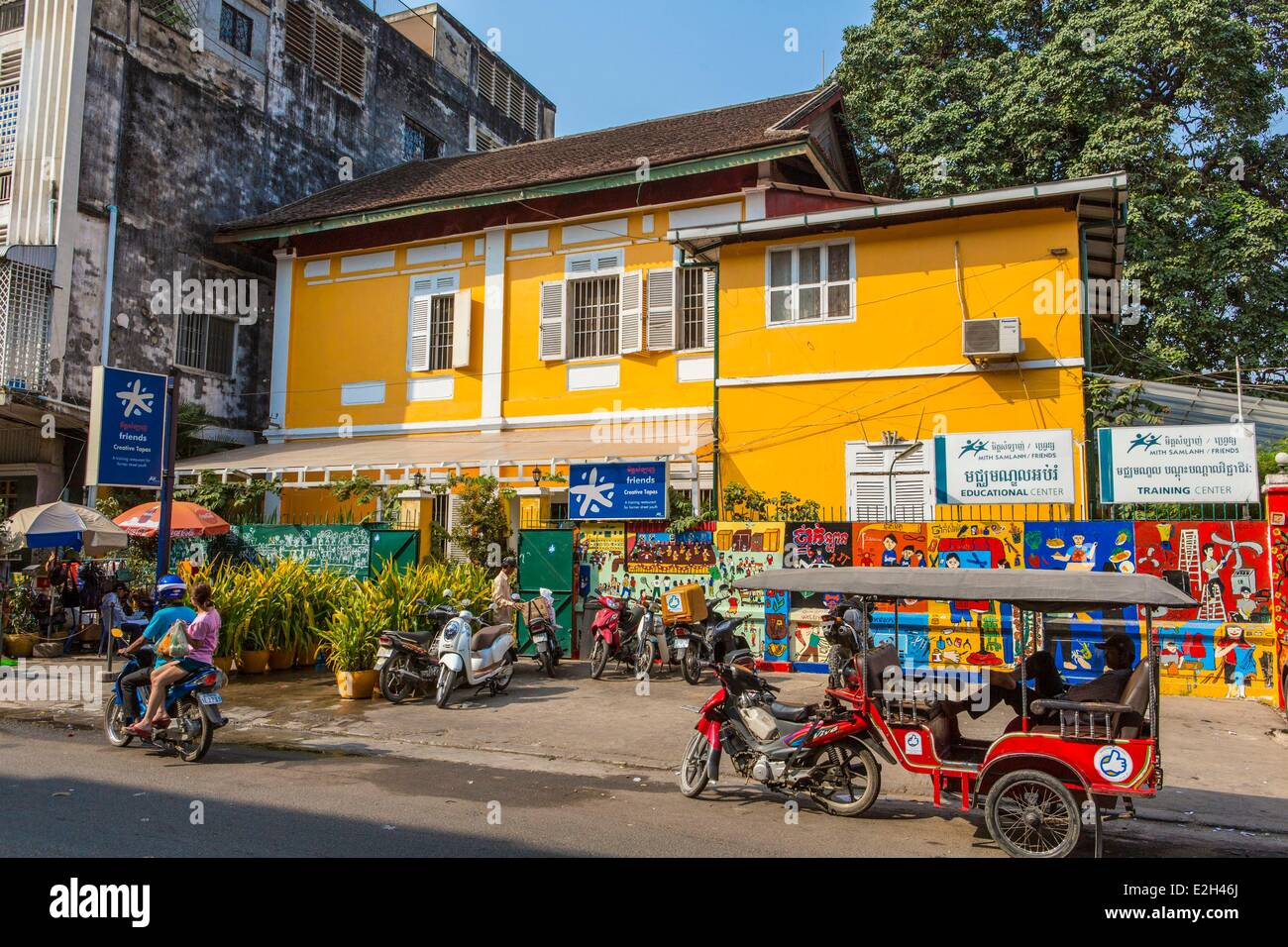 Cambodia Phnom Penh Friends restaurant run by a charitable organization training young people for careers in tourism - Stock Image