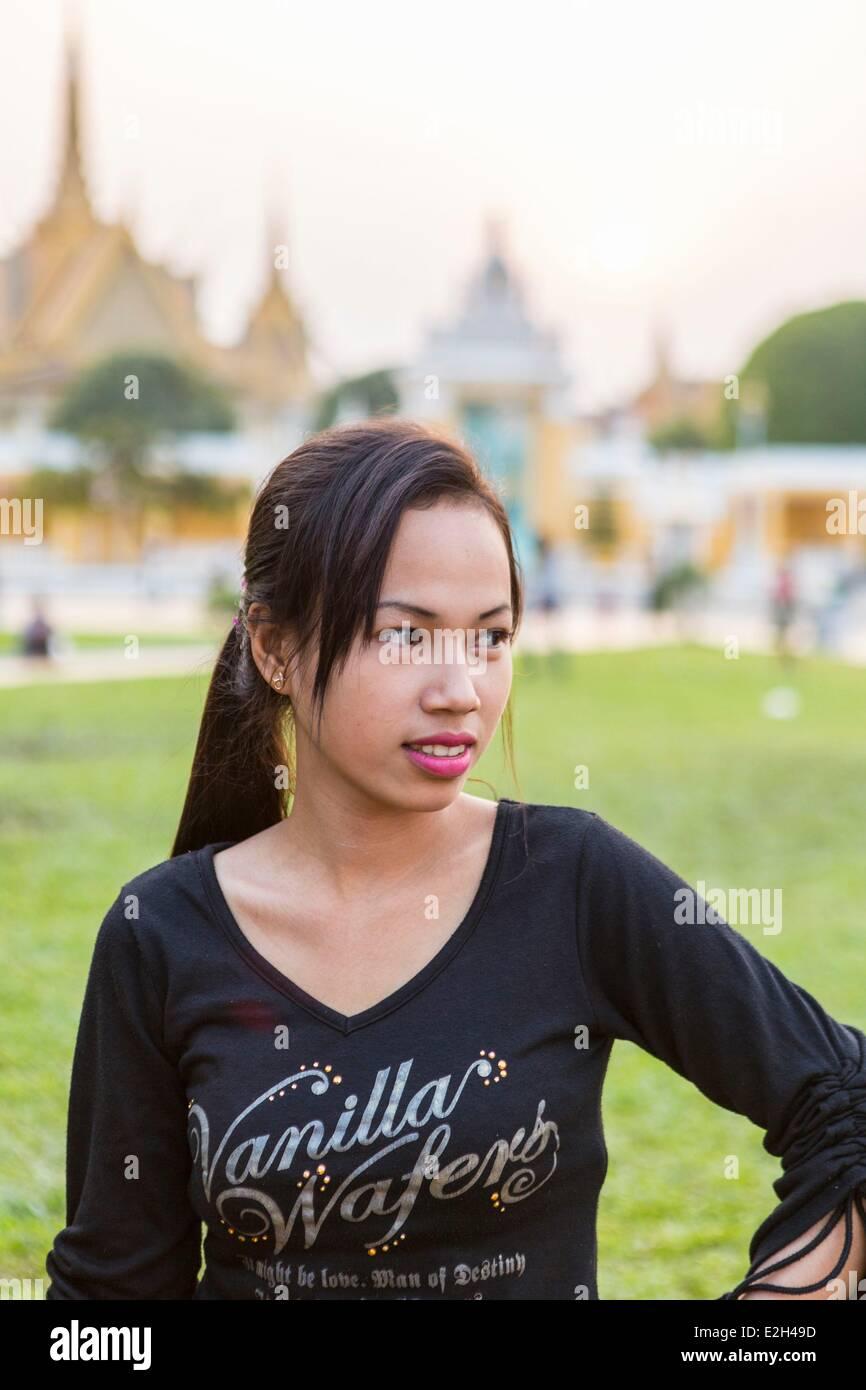 Cambodia Phnom Penh Cambodian woman - Stock Image