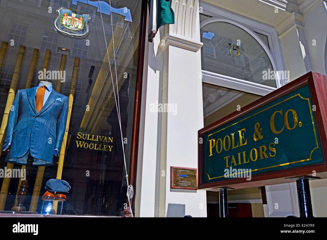 Bespoke Tailors on Savile Row, Mayfair, City of Westminster, London, England, United Kingdom - Stock Image