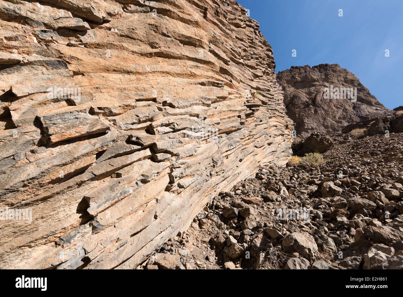 Columnar basalt, Grand Canyon, Arizona. - Stock Image
