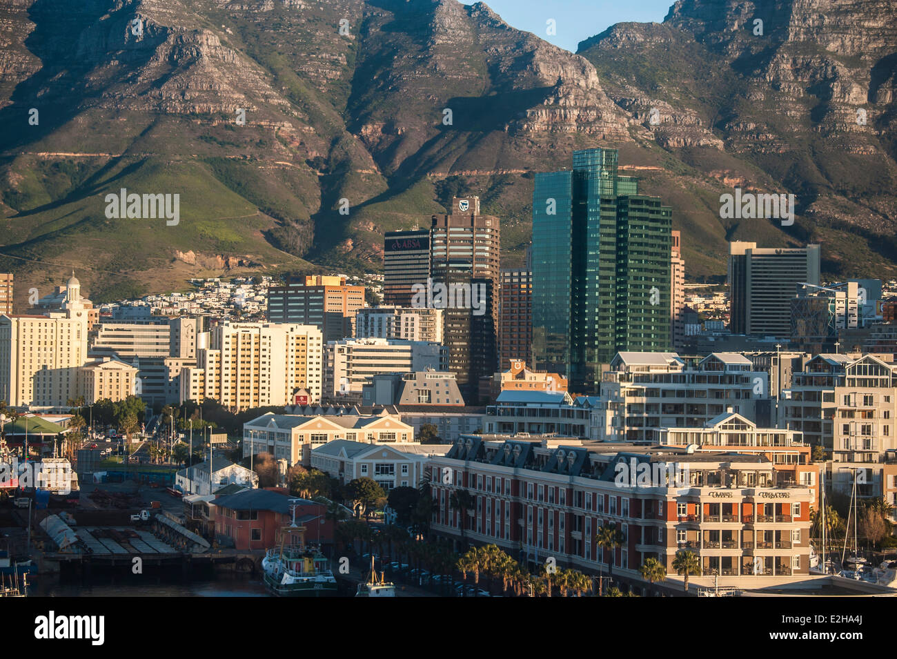 Cape Town city centre with business houses, Cape Town, Western Cape, South Africa - Stock Image