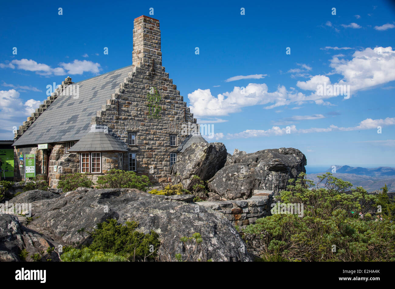 Mountain cabin on Table Mountain, Cape Town, Western Cape, South Africa - Stock Image