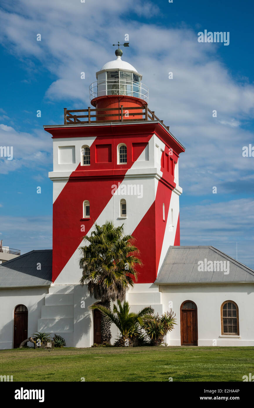 Seapoint Lighthouse, Cape Town, Western Cape, South Africa - Stock Image