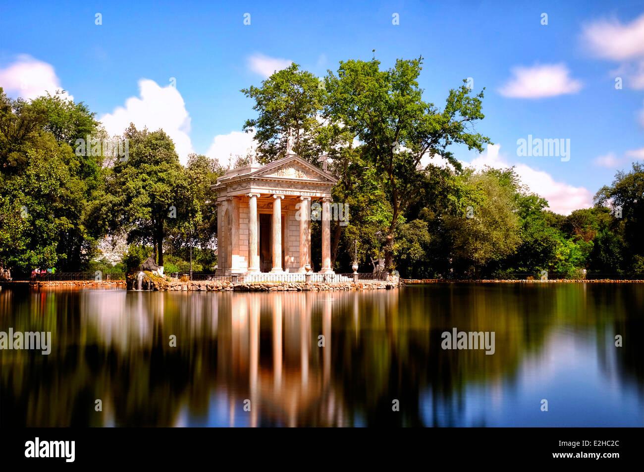 Laghetto di Villa Borghese, Rome, Italy - Stock Image