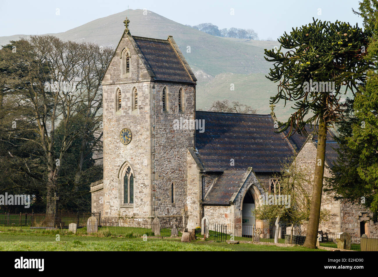 Church of the Holy Cross, Ilam, Peak District National Park, Staffordshire - Stock Image
