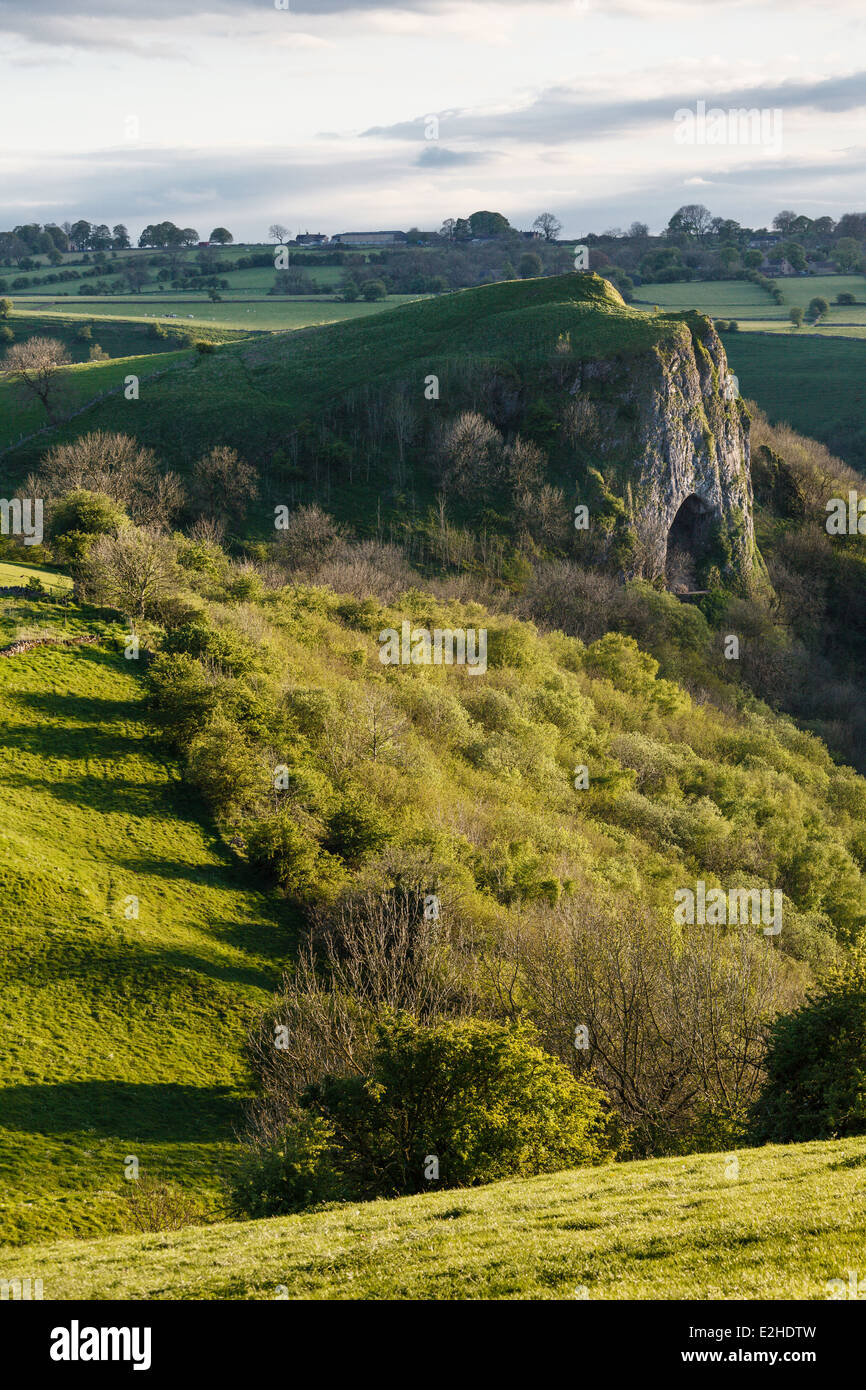 Thor's Cave, Manifold Valley, Peak District National Park, Staffordshire - Stock Image
