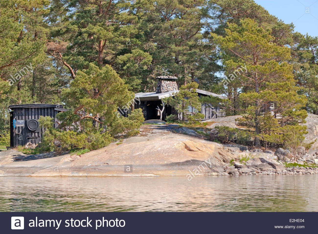 Sunny day in the archipelago of Turku - Stock Image