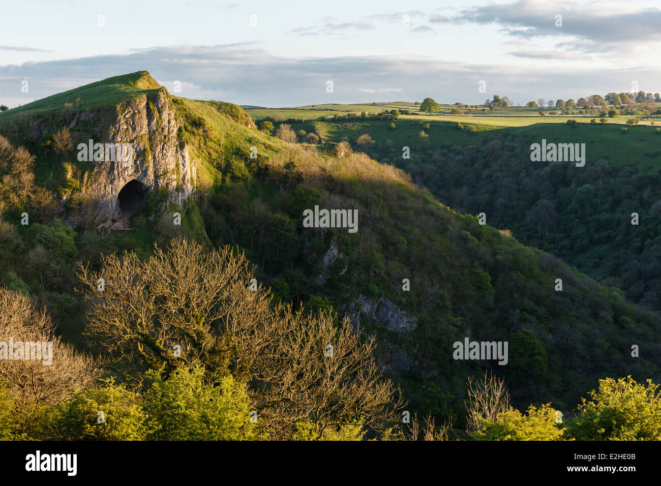 Thor's Cave, Manifold Valley, Peak District National Park, Staffordshire Stock Photo