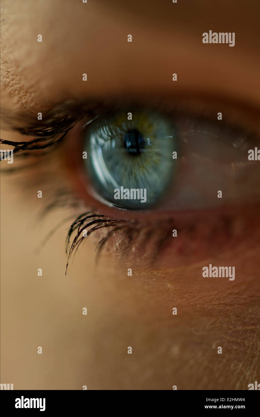 Woman's eye, close-up - Stock Image