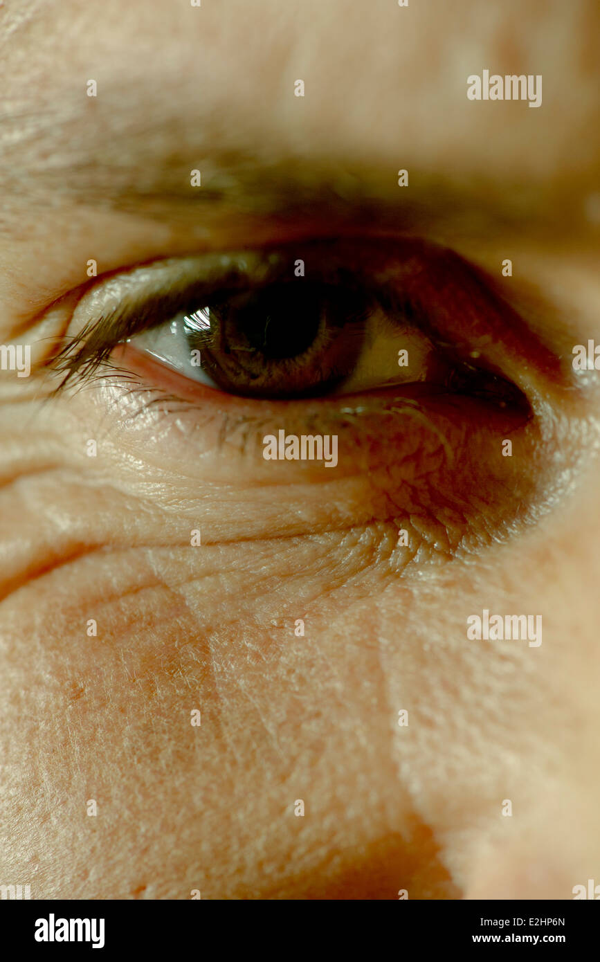 Man's eye, close-up - Stock Image