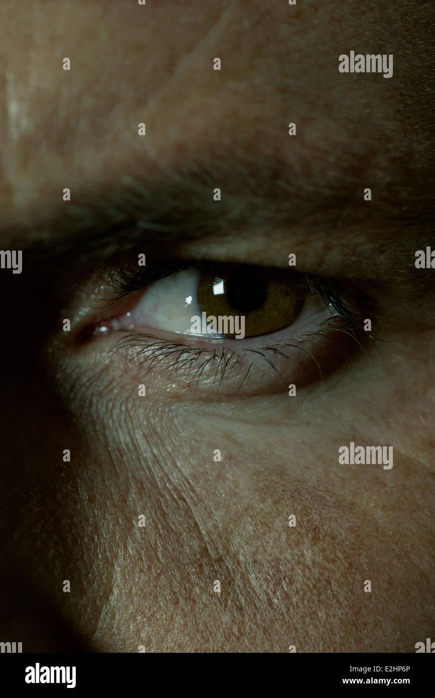 Man's eye, close-up - Stock Image
