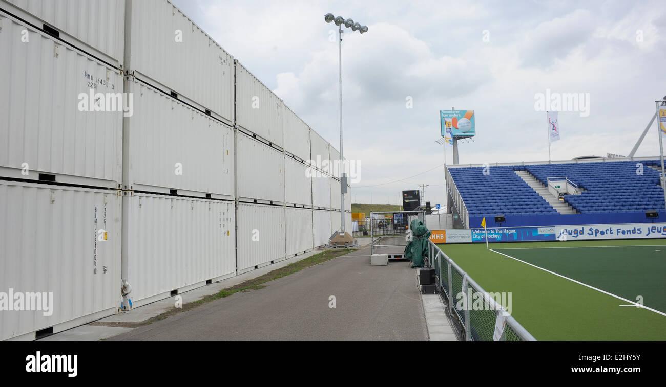 Greenfields Stadium, The Hague.  Hockey World Cup 2014. - Stock Image