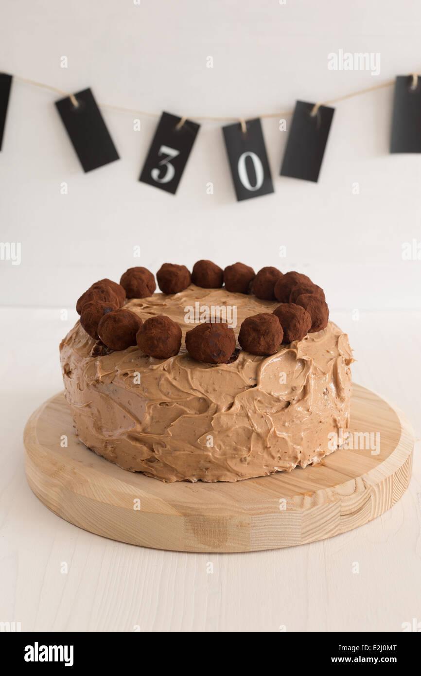 Chocolate Truffles Cake For A Birthday