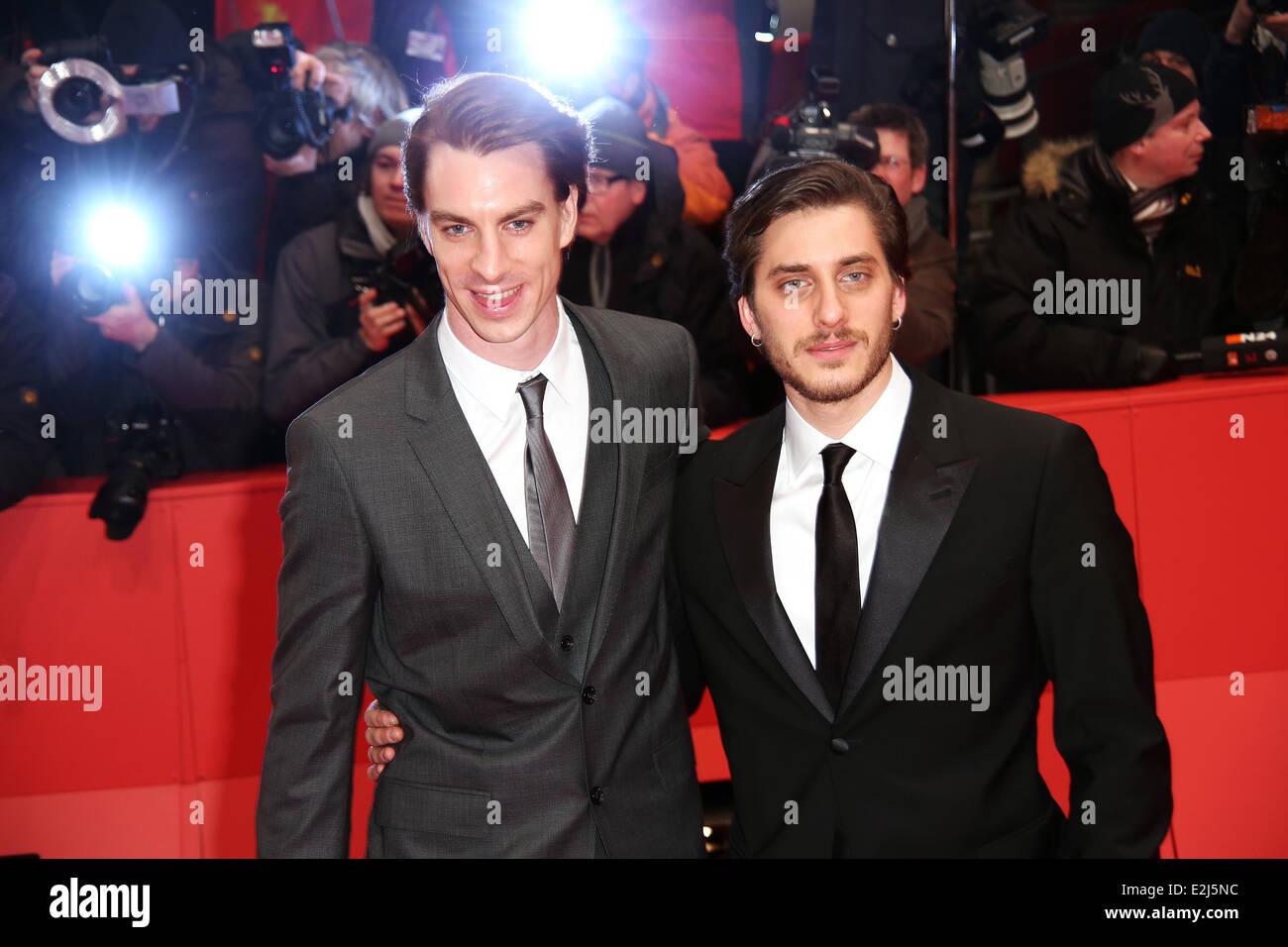 Jure Henigman and Luca Marinelli at 63rd Berlin International Film Festival (Berlinale) - premiere Before Midnight - Stock Image