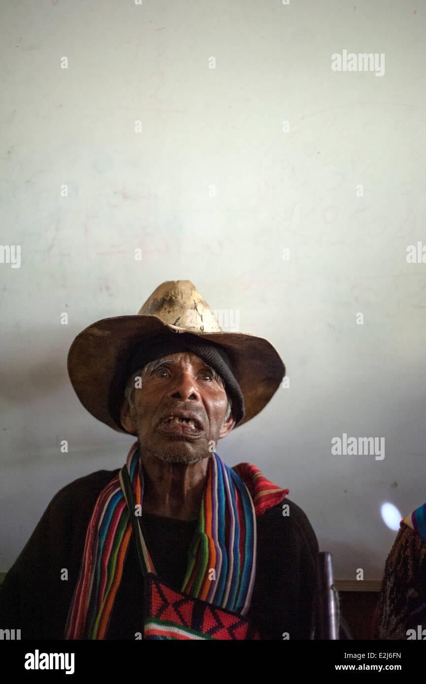 Maya indigenous man in Nahuala, Solola, Guatemala. - Stock Image