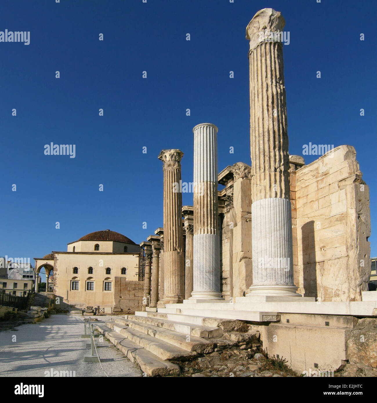 Ruins of the Hadrian's Library in Athens, Greece. - Stock Image