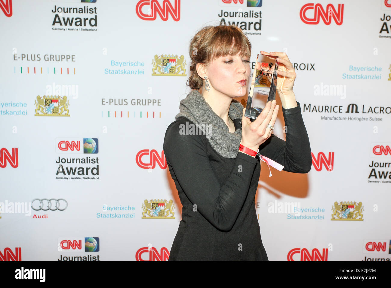 Sabine Rossi at the CNN Journalist Award at Kuenstlerhaus am Lenbachplatz square.  Where: Munich, Germany When: - Stock Image