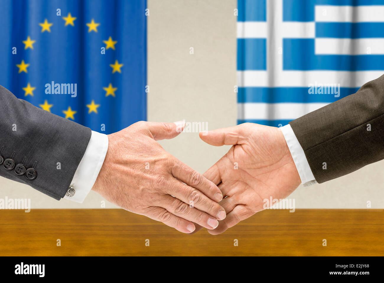 Greece Handshake Stock Photos Greece Handshake Stock Images Alamy