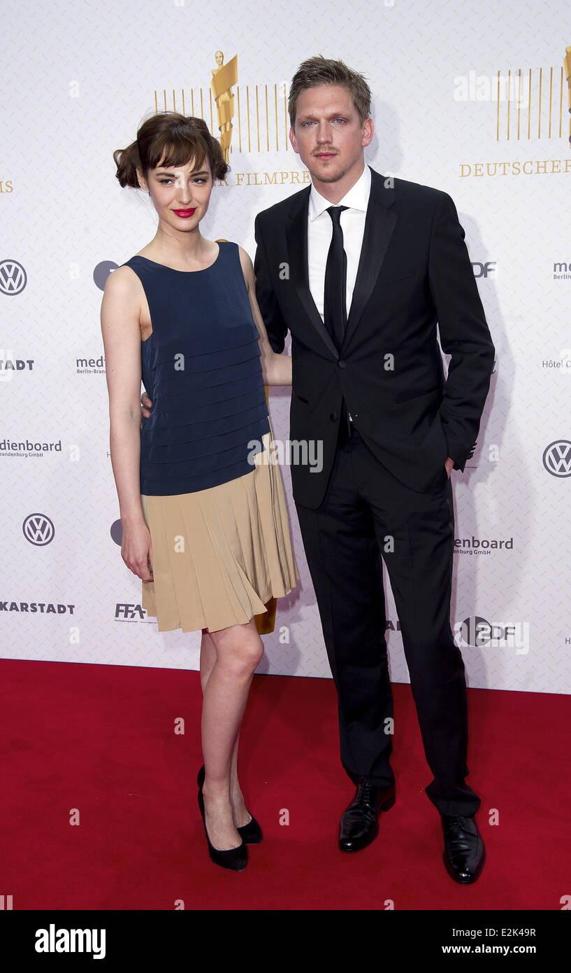 Jan Ole Gerster and guest at Deutscher Filmpreis (German Movie Awards) at Friedrichstadt Palast - red carpet arrivals. - Stock Image