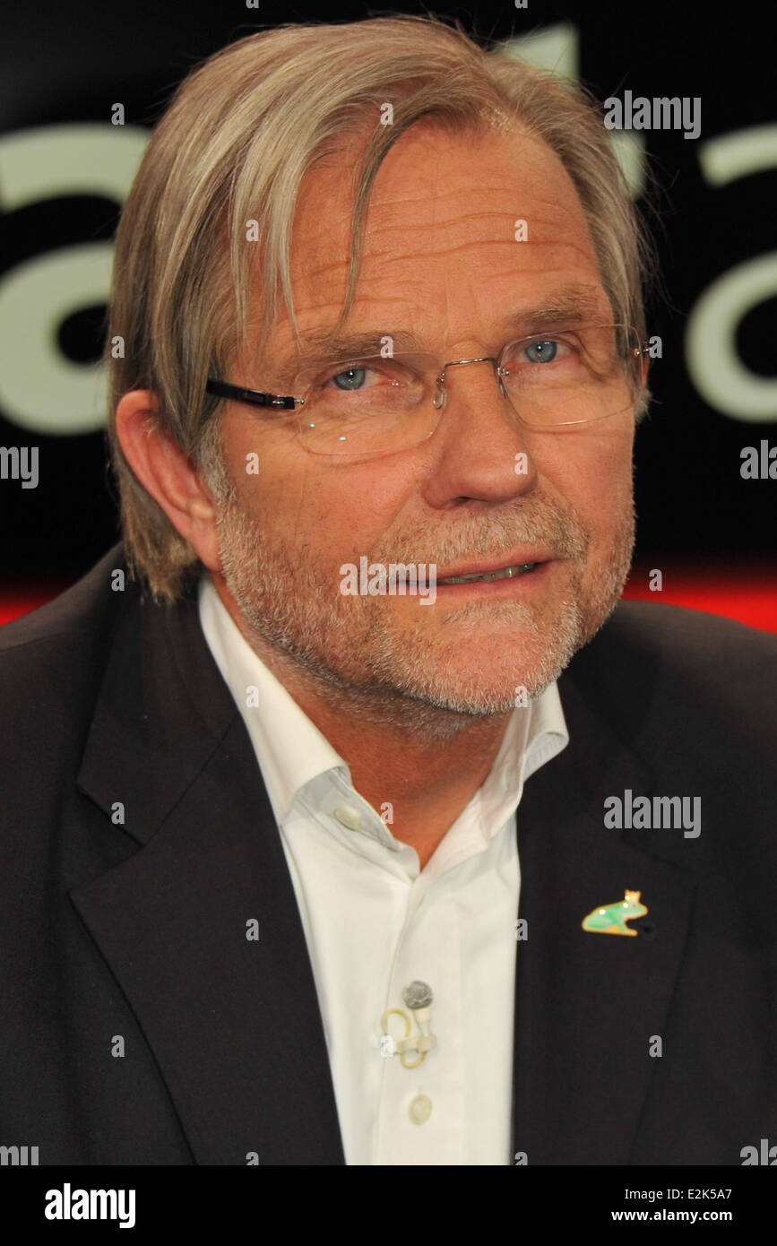 Joerg Adler on German ARD TV show Hart aber fair at WDR Studios.  Where: Cologne, Germany When: 29 Apr 2013 - Stock Image